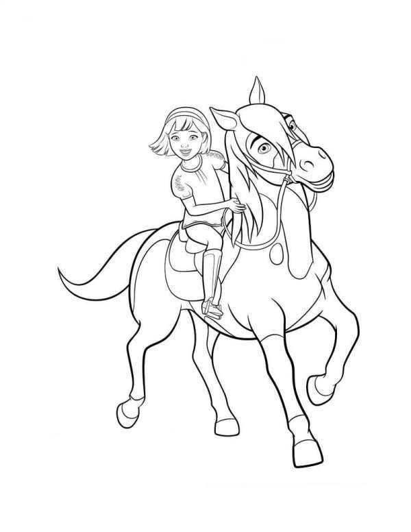 Coloring Page Spirit Riding Free Abigail Boomerang 2 With Images