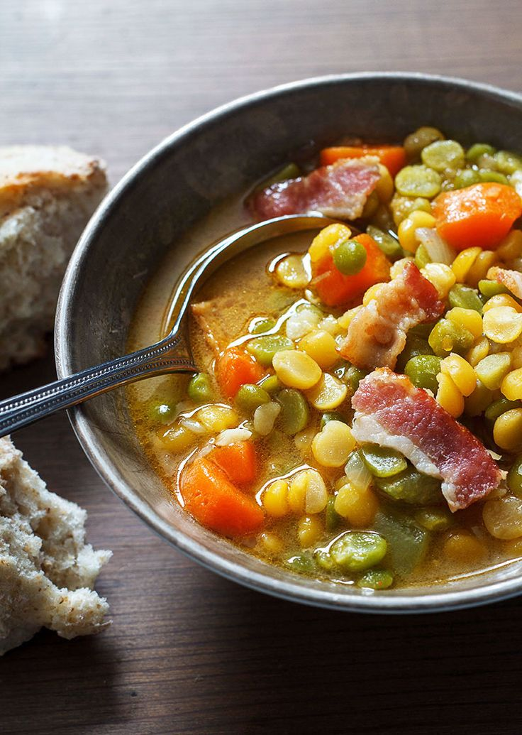 This nutrient-dense carrots, bacon and split pea soup will keep you nourished and warmed up all winter. Make-ahead friendly with a delicious savory twist thanks to grilled bacon, you can enjoy it f…