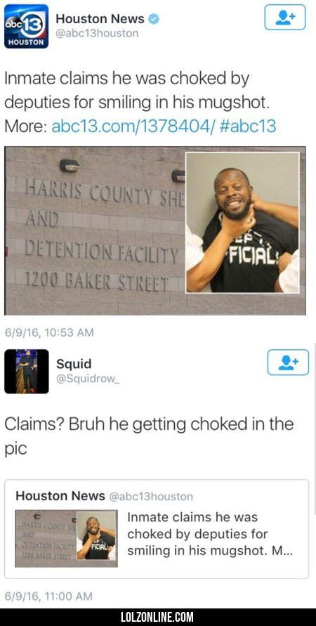Inmate Claims He Was Choked By Deputies #lol #haha #funny