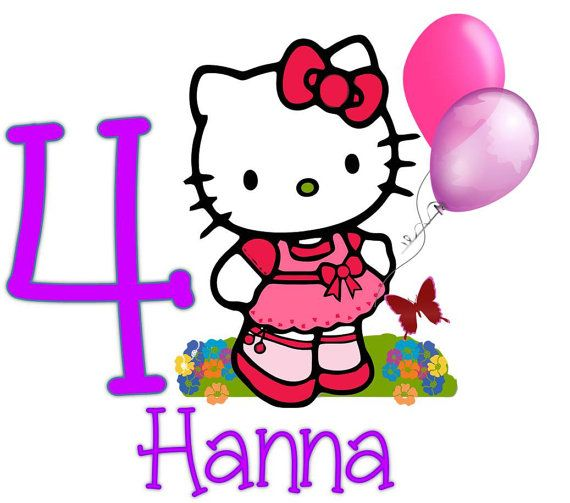 hello kitty with balloons birthday iron on by
