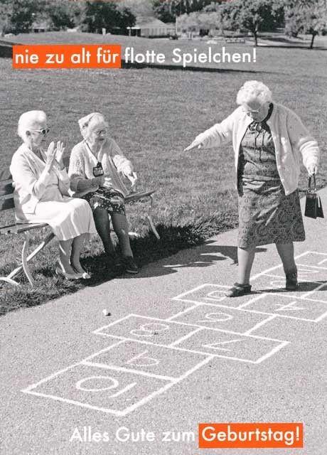 Nie zu alt für flotte Spielchen!