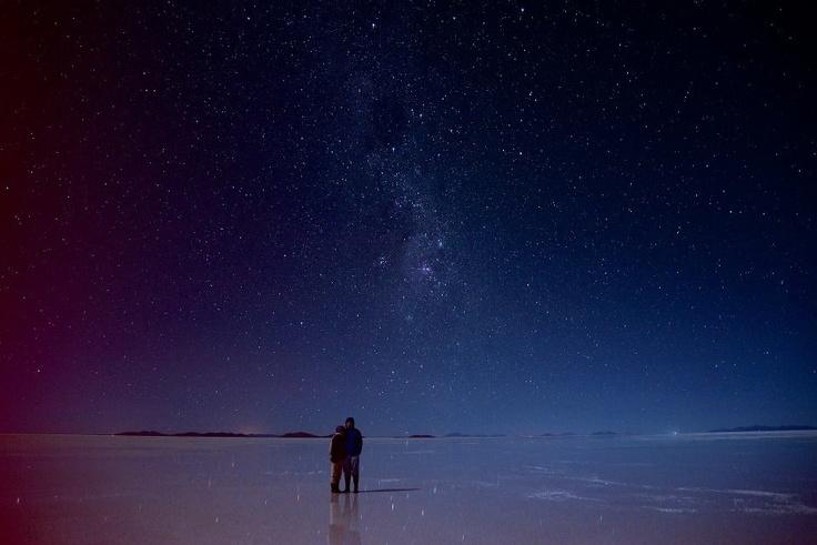 Starry night at Salar de Uyuni, Bolivia | Bolivia! | Pinterest ...
