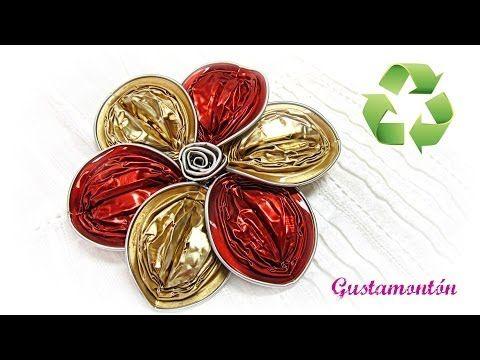 DIY: Flor de capsulas. Capsules flower. - YouTube