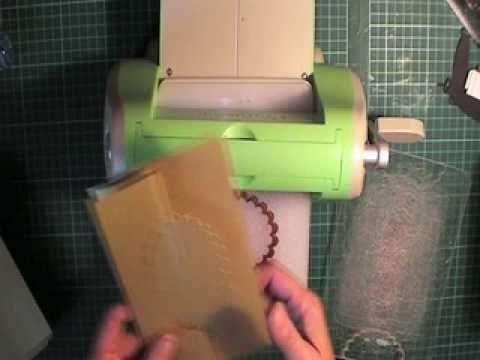 1/2 cut window using cuttlebug...brilliant!