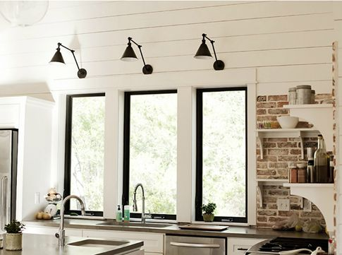 167 best light fixtures images on pinterest night lamps light trio of boston functional library two arm wall lights over the beautifully framed windows in this aloadofball Choice Image