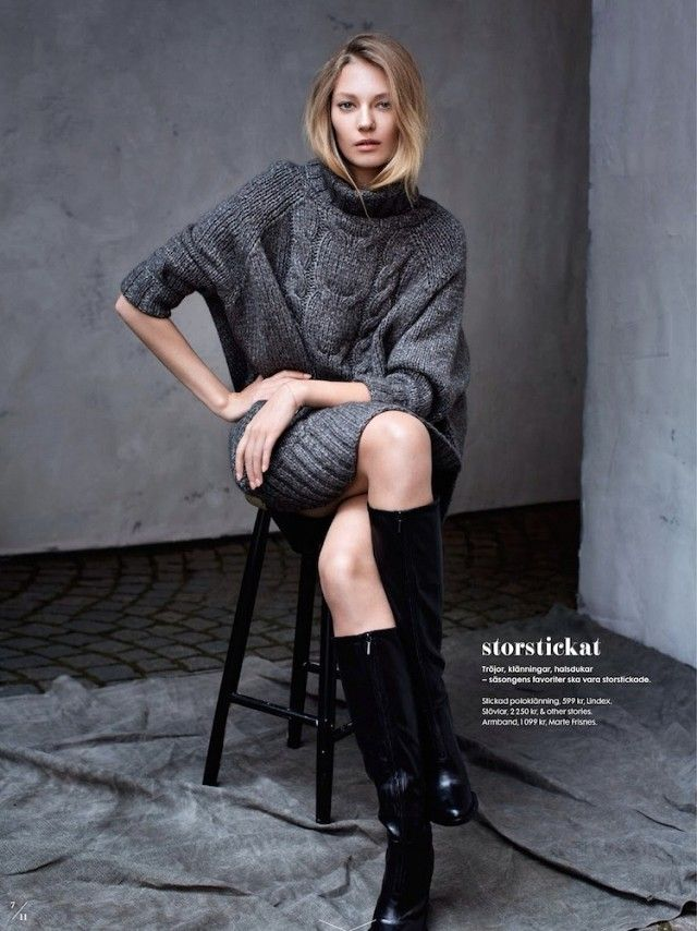 5 Minimal Cozy Fall Looks From ELLE Sweden via @WhoWhatWear