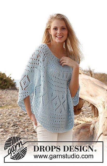 Hand Knitted poncho / top / sweater / vest for by BeautifulSunrise, £65.00