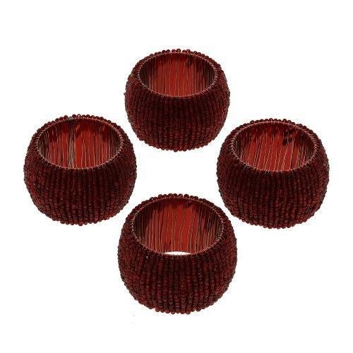 4 ronds de serviette en perles de cristal rouge - Idée cadeau de ShalinCraft, http://www.amazon.fr/gp/product/B00B5ONNT0/ref=cm_sw_r_pi_alp_RPoerb1NG3VXH