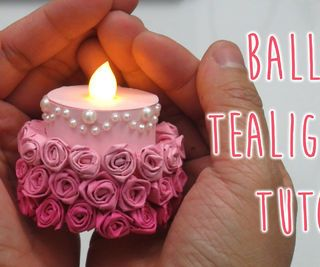 Ombre Rose Tealight Cake