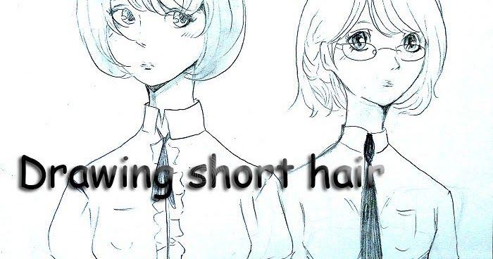 Tutorial Menggambar Rambut Pendek Manga Cewek Belajar Manga Menggambar Rambut Gambar Rambut Pendek