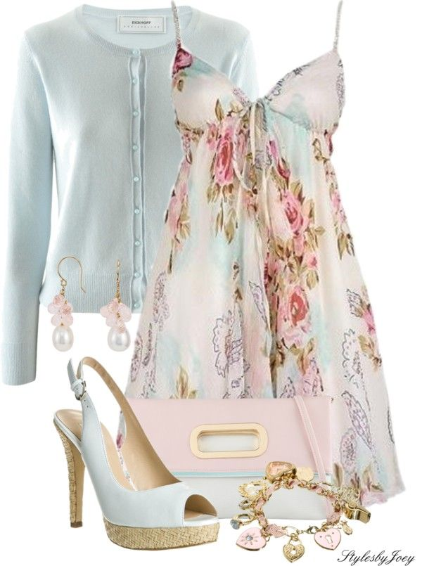 """A Perfect Floral Dress"" by stylesbyjoey on Polyvore"