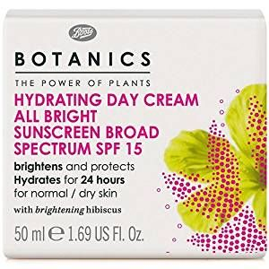 BOOTS Botanics All Bright Hydrating Day Cream SPF15 Review