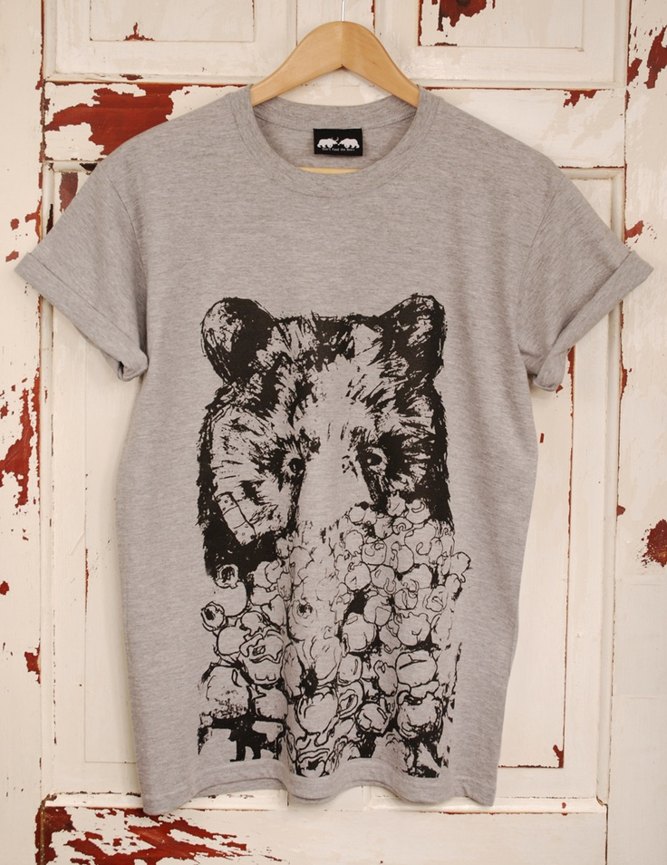 Grey T-shirt screen printed
