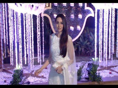Karishma Kapoor at Manish Malhotra's niece Riddhi Malhotra's wedding reception.