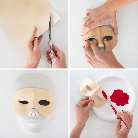 how to make a leather mask steps