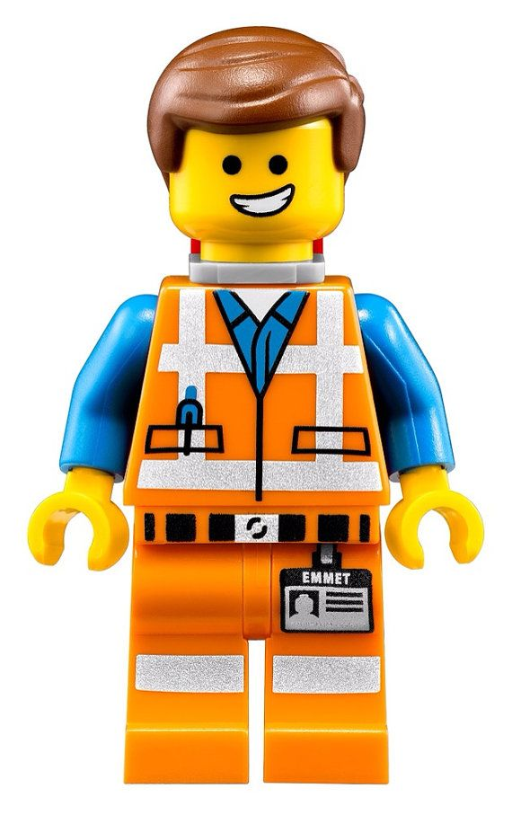 The Lego Movie Emmet WALL STICKER Super Cute By