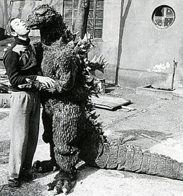 a kiss of Godzilla - c.1955