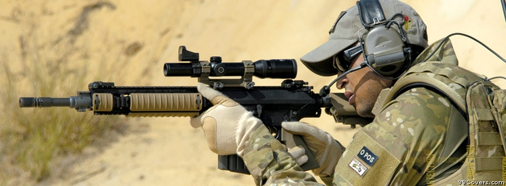 Us Army Guns Ready Facebook Covers