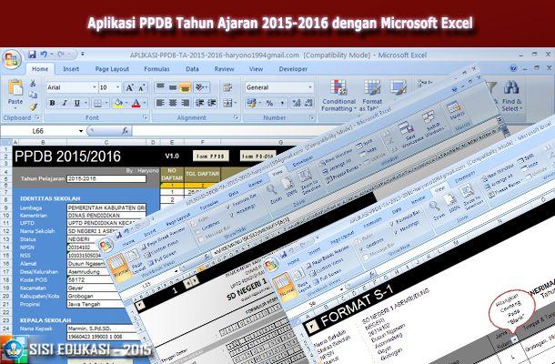 [.xls otomatis] Aplikasi PPDB Excel Tahun Ajaran 2015-2016 Gratis Download Terbaru
