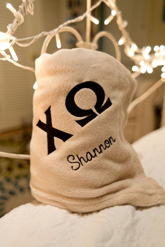 Sorority Blanket; Greek blanket; embroidered blanket; sorority gifts; big/little gift