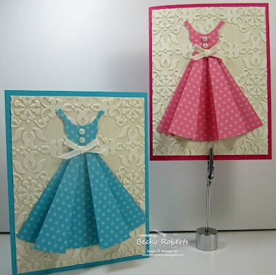 i love this card ideaSummer Dresses, Ink Idaho, Paper Dresses, Cards Pattern, Idaho Ideas, Bridal Shower, Girls Birthday, The Dresses, Cards Templates