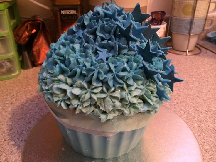 Ombre Giant Cupcake with Stars