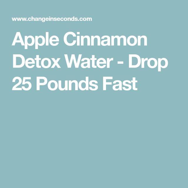Apple Cinnamon Detox Water - Drop 25 Pounds Fast