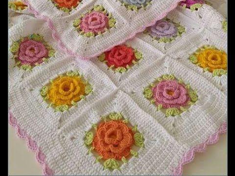 Çiçek motifli bebek battaniyesi yapımı videosu - YouTube