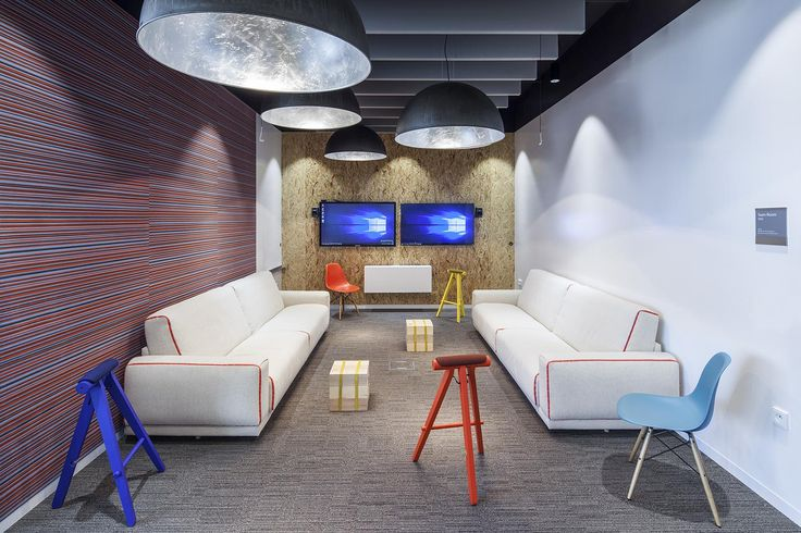 Microsoft office in Prague, Czech Republic.  Carpet tile collection Equilibrium by Interface