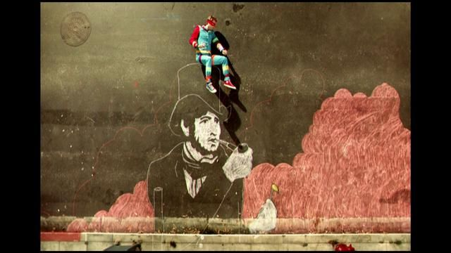 Coldplay - Strawberry Swing (2009): Pixellation combined with animated chalk drawings make Shynola's film a whimsical adventure story with a hint of Méliès fantasy!