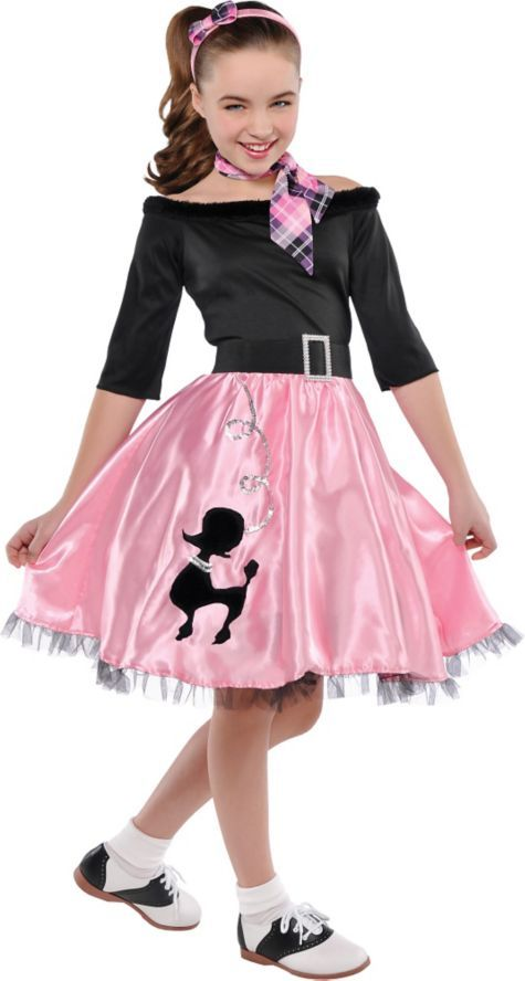 Girls Miss Sock Hop Costume - Party City