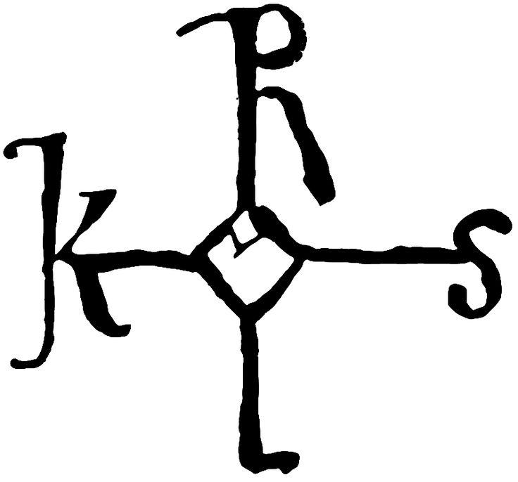 Autograf, Karl den store - Signum manus - Wikipedia, the free encyclopedia