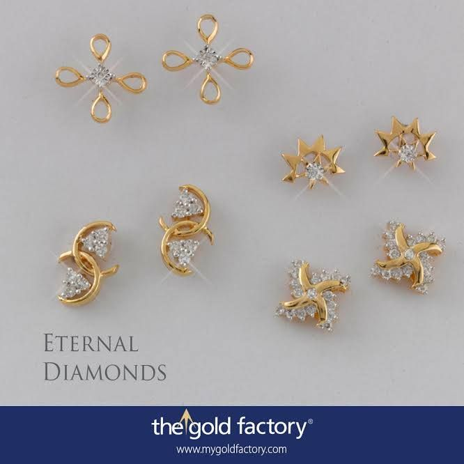 A diamond-centred ceiling fan ; a brilliant sun-star ; a dazzling Catherine Wheel ; and a naughty'69' double cluster. That's a little peek into the variety of eartops from our Eternal Diamonds Collection, now available at NO MAKING CHARGES for only these LAST SEVEN DAYS OF AUGUST.