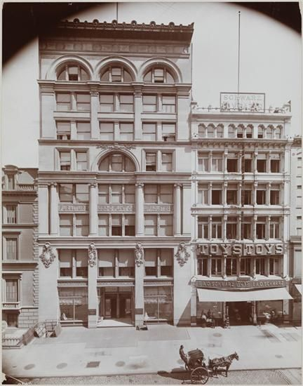 The original F.A.O. Schwartz New York store on the right.