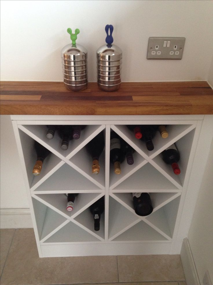 diy wine rack make two of these on either side and one in the