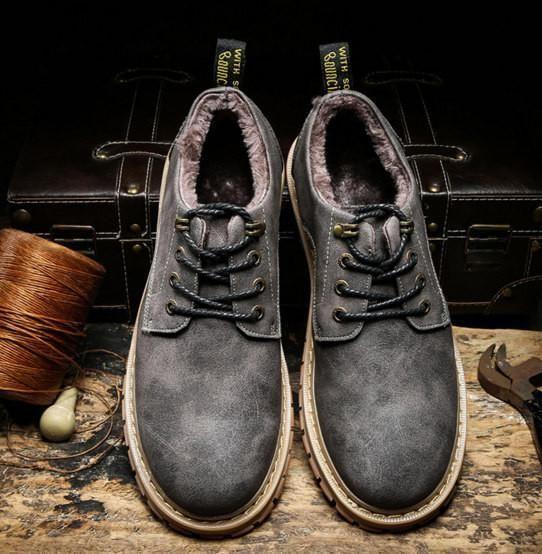 Merkmak New Fashion Italian Men Shoes Luxury Classic Men Leather Shoes Men Oxfords Designer Waterproof Martin Outdoor Footwear