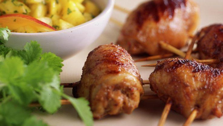 Jerk-kylling med ananas salsa