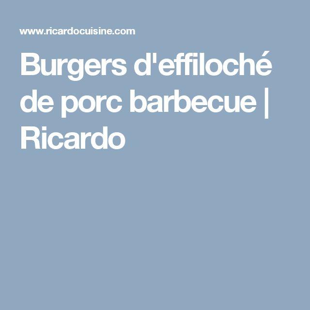 Burgers d'effiloché de porc barbecue | Ricardo