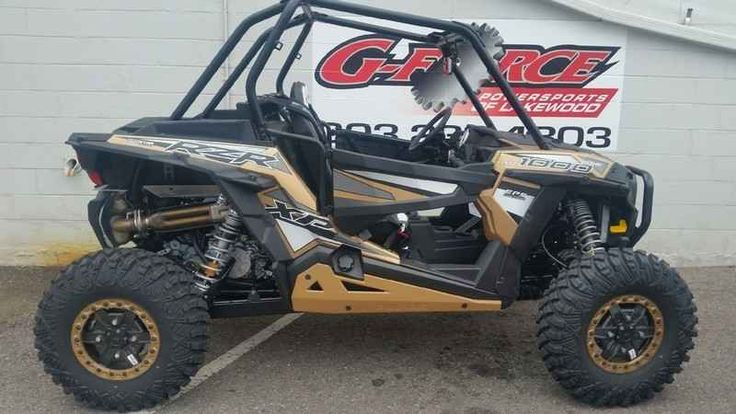 New 2017 Polaris RZR XP 1000 EPS LE ATVs For Sale in Colorado. 2017 Polaris RZR XP 1000 EPS LE , G-Force Powersports Lakewood Call 303-238-4303 2017 Polaris® RZR XP® 1000 EPS Gold Metallic Signature RZR XP® 1000 performance, with added capability to dominate the trail and rocks. Features may include: POWER FEATURES 110 HP PROSTAR® H.O. ENGINE Designed specifically for extreme performance, the Polaris ProStar® 1000 H.O. engine features 110 horses of High Output power and all of the…