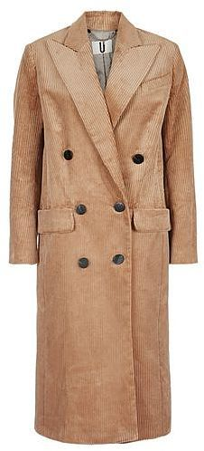 Womens camel acrefield coat by unique from Topshop - £395 at ClothingByColour.com