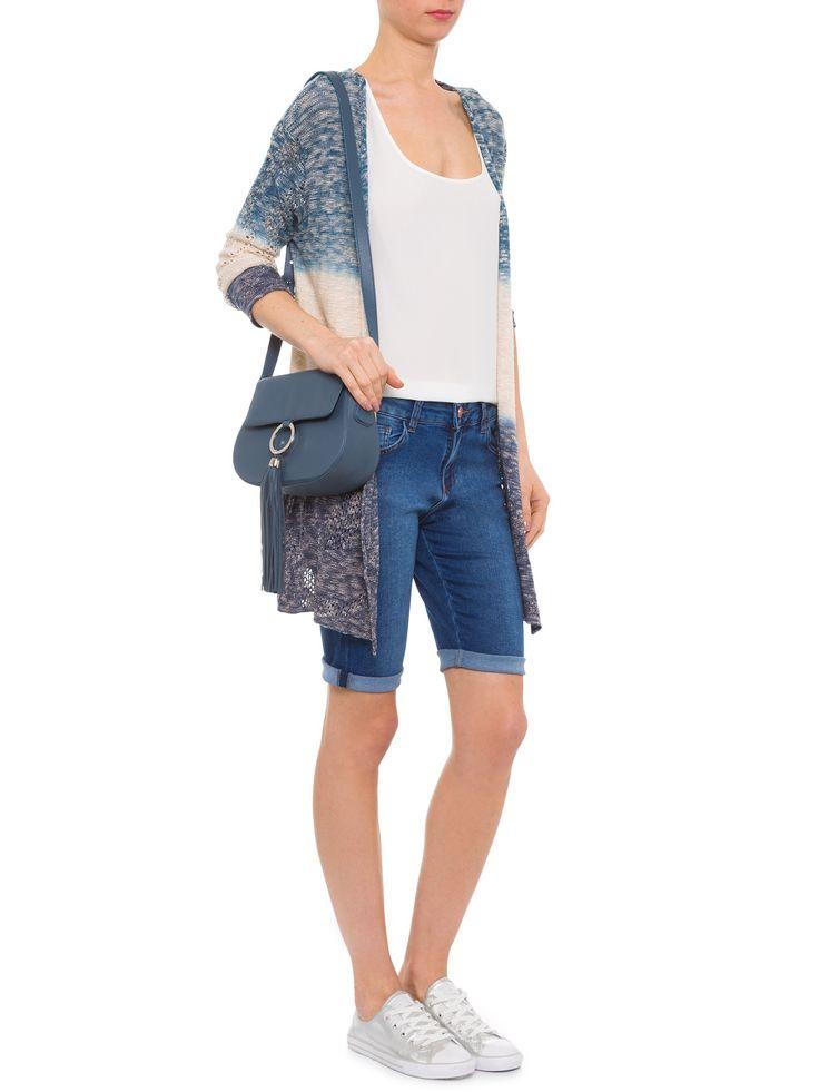Bermuda Feminina Jeans Ciclista - Mob - Azul  - Shop2gether