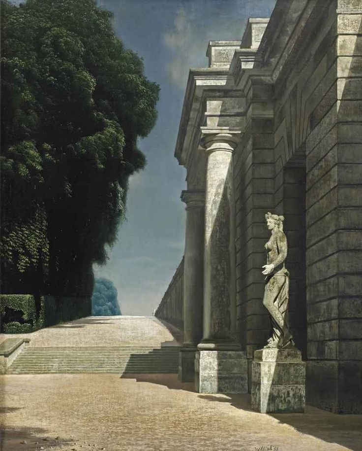 Carel Willink (Dutch, 1900-1983), Avenue at Versailles, 1953. Oil on canvas, 74 x 60.5 cm.