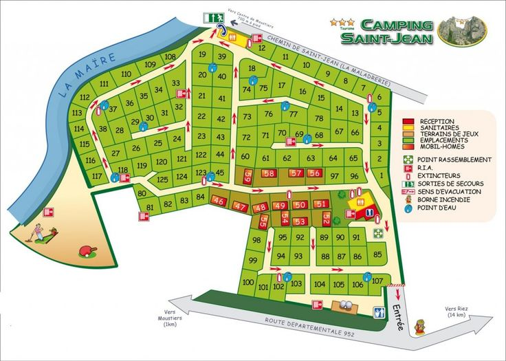 Plan du camping St Jean   Camping Saint Jean ***