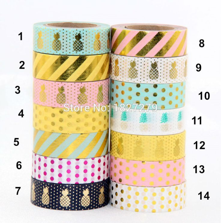 Cheap tape weft hair extensions, Buy Quality tape eyelid directly from China tape tool Suppliers: Hot sales!! 10m Gold Foil decorative scotch tape dot, pineapple,heart, strip masking Christmas Japanese washi tapeUSD 1.