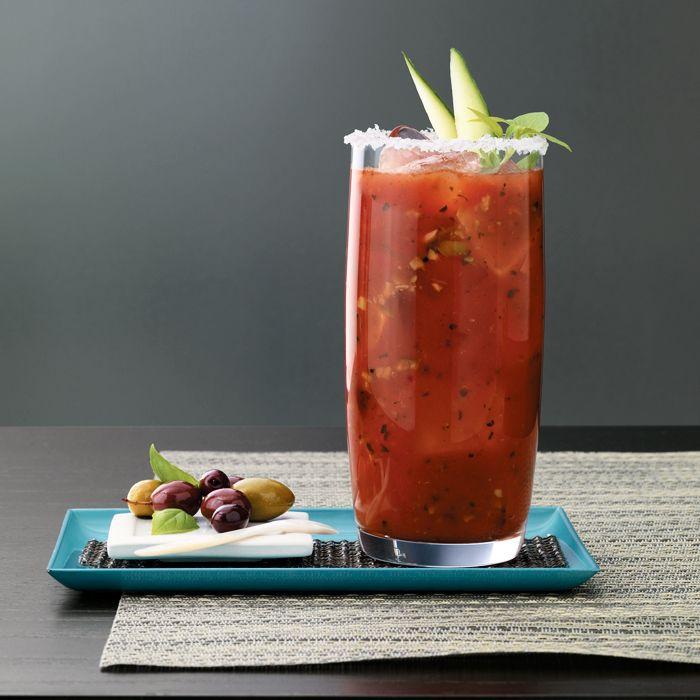 Grey Goose Mediterranean Mary: Olive tapenade and herbs take this savory Bloody Mary to another level.