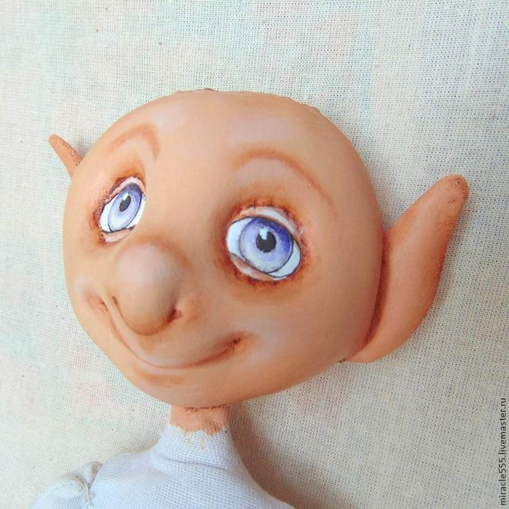 Изготовление сказочного персонажа в смешанной технике. Третья часть: роспись лица - Ярмарка Мастеров - ручная работа, handmade
