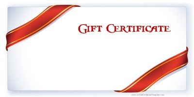 Free printable gift certificate templates that can be customized online with our free gift certificate maker