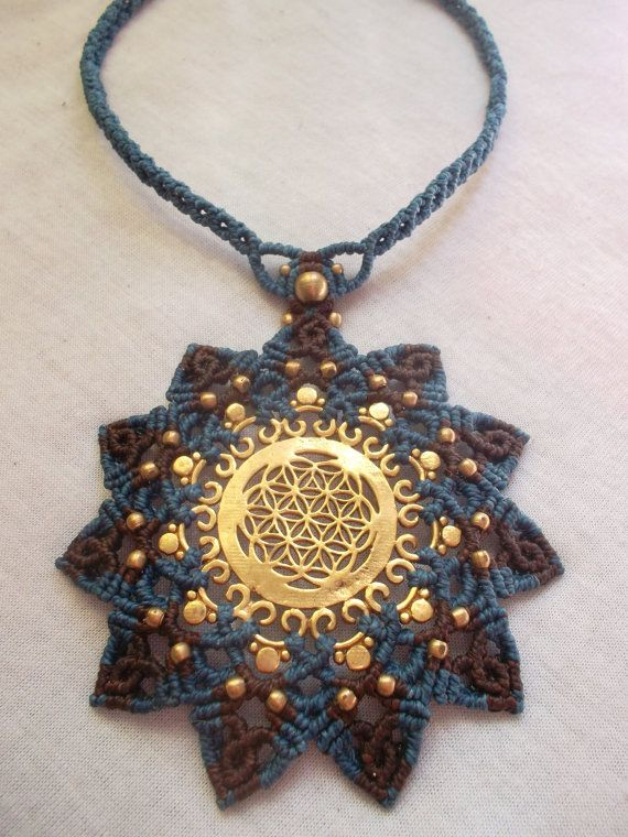 Mandala macrame with the power of Flower of life by LunaticHands