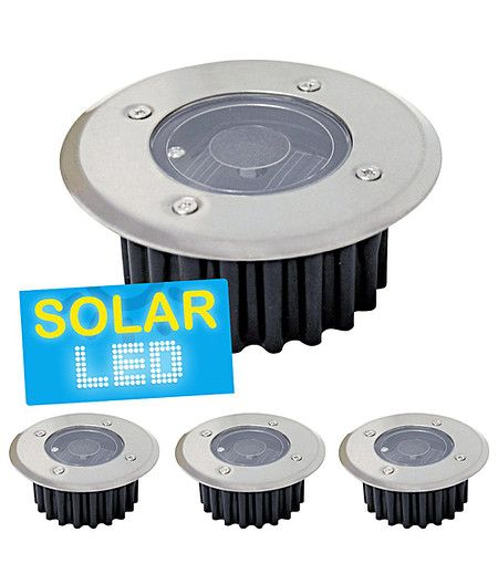 Ideal er Set LED Solar Bodenstrahler rund er Set
