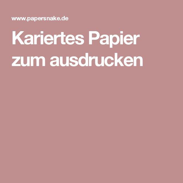 Kariertes Papier zum ausdrucken